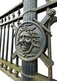 Żelazna maska gorgony meduza Obrazy Royalty Free