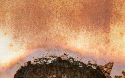 Żelazna ośniedziała artystyczna ścienna obieranie farba Zdjęcia Royalty Free