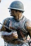 Żelazna pracownik rzeźba obraz stock
