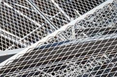 Żelazna siatka i ferrous materiał w wysypisku Zdjęcia Stock
