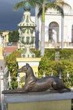 Żelazna statua pies Zdjęcia Royalty Free