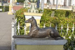 Żelazna statua pies Zdjęcia Stock