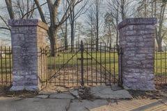 Żelazne cmentarz bramy Fotografia Royalty Free
