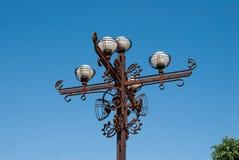 Żelazne latarnie uliczne Zdjęcie Royalty Free