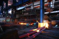 Żelazne Steelmaking pracy Obraz Royalty Free