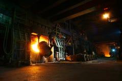 Żelazne Steelmaking pracy Obrazy Royalty Free