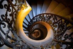żelaznego schody odgórny widok dokonany Zdjęcie Stock