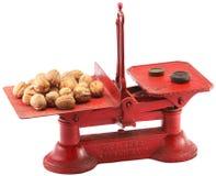 Żelazny antykwarski kuchenny równoważenie waży Obrazy Stock
