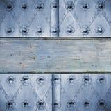 Żelazny drzwiowy tło Zdjęcie Stock