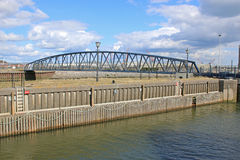 Żelazny Footbridge Zdjęcia Royalty Free