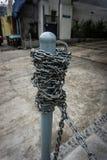 Żelazny kij z łańcuchem otacza fotografię brać w Jakarta Indonesia Obraz Stock