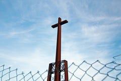 Żelazny krzyż Fotografia Royalty Free