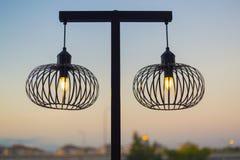 Żelazny lamppost Zdjęcie Royalty Free