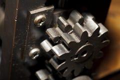 Żelazny maszynowy szczegółu zakończenie, przemysłowy tło Zdjęcie Royalty Free