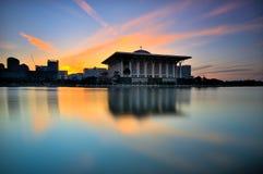 Żelazny meczet podczas wschodu słońca Obraz Stock