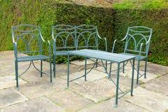 Żelazny ogrodowy meble set. Zdjęcie Stock