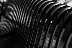 Żelazny parkowej ławki abstrakt Zdjęcie Stock