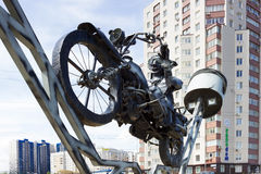 Żelazny rowerzysta Fotografia Royalty Free