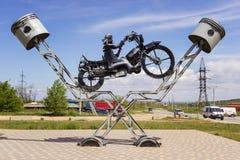 Żelazny rowerzysta Zdjęcia Royalty Free