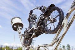 Żelazny rowerzysta Zdjęcie Royalty Free
