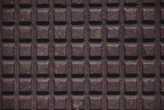 Żelazny talerz z w kratkę wzorem Fotografia Stock