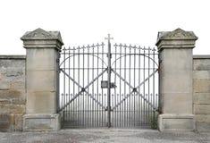 Żelazo ściana i brama zdjęcia royalty free