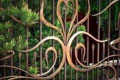 ?elazo bramy, ornamentacyjny skucie, forged elementu zako?czenie obraz royalty free