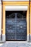 Żelazo bramy przy Vozdvizhenka ulicą, Kijów, Ukraina Zdjęcie Stock