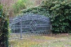 Żelazo ogrodowa brama Zdjęcie Royalty Free