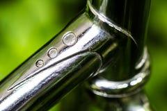 Żelazo, stal, chrom, przemysłu metalu tubka lub drymba kształta szczegółu wi, obrazy stock