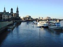 elb πλημμυρίζοντας ποταμός στοκ εικόνα με δικαίωμα ελεύθερης χρήσης