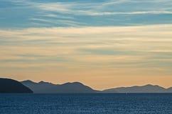 Elba ö på solnedgång Royaltyfria Foton