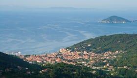 Elba. Over Island Elba, Tuscany, Italy Stock Photography