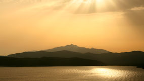 Elba. Sunset Over the Island Elba Royalty Free Stock Images