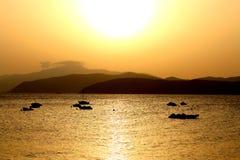 Elba. Sunset over the island elba Royalty Free Stock Photography