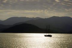 Elba. Boat on the sea in Elba Stock Photo