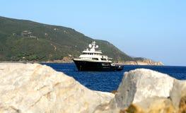 Elba. Boat in Gulf, Island Elba Royalty Free Stock Photos
