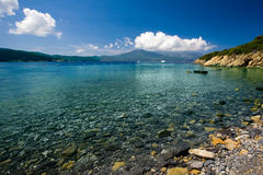 Elba. Beach and blue sea in Elba Island Stock Photo
