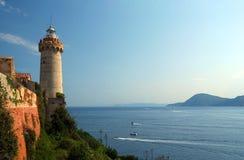Elba Island. Lighthouse Portoferraio in Elba Island -Mediterranean Sea - Italy royalty free stock photos