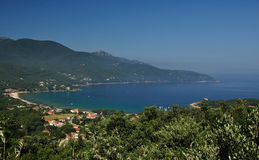 Elba Island bay view with Procchcio beach Stock Photo