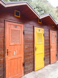 Elba Island, beach cabins Stock Images