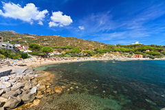 Elba island - beach in Seccheto Royalty Free Stock Images
