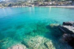 Elba Island. Beautiful beach of Sant'Andrea, in Elba Island Stock Photo