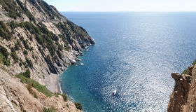 Elba Island, the cliffs of the West side Stock Image