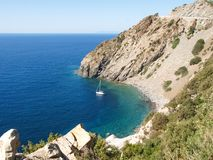 Elba Island, the cliffs of the West side Stock Images