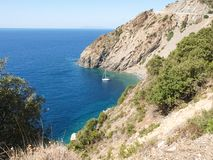 Elba Island, the cliffs of the West side Royalty Free Stock Photography