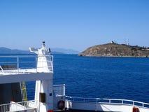 Elba Island, de veerbootreis Stock Foto's