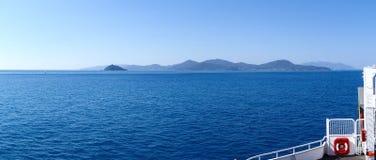 Elba Island, de veerbootreis Royalty-vrije Stock Foto
