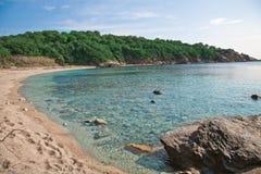 Elba Island. Desert beach and cristal clear sea Royalty Free Stock Image