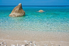 Elba Island. Desert beach and cristal clear water Royalty Free Stock Photography